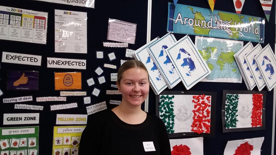 Student from ITAC during her Cert 4 in School Based Education Support placement.