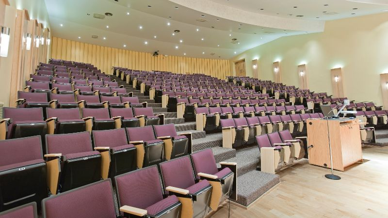 Emply lecture room.