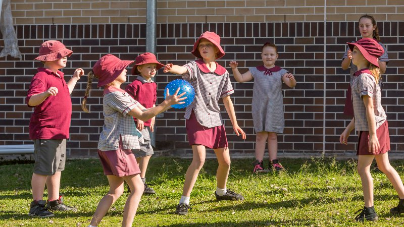 Play-based learning in a school.